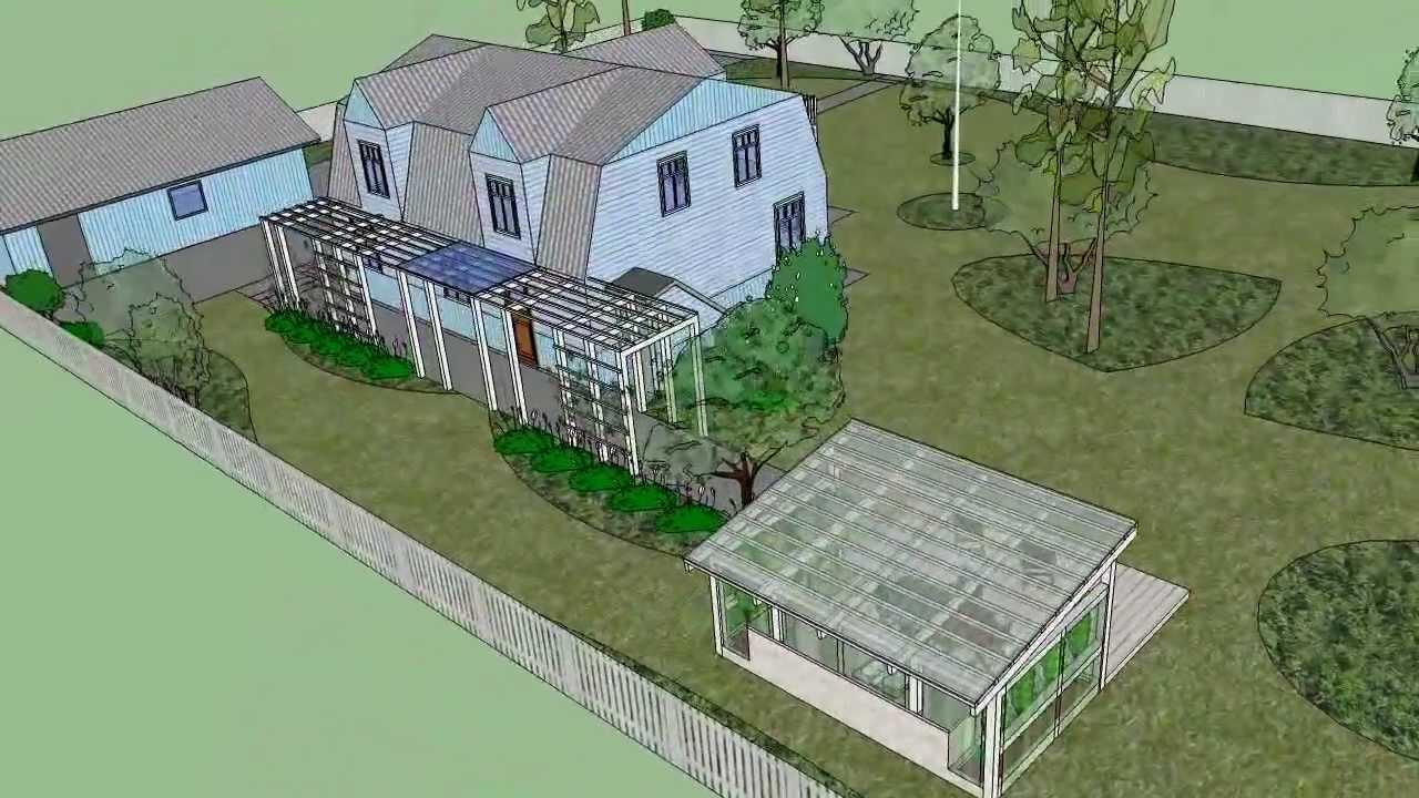 Garden Design 3D (SketchUp) - YouTube