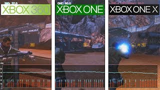Red Faction Guerrilla | 360 / ONE / ONE X | Framerate Test | FPS Comparison