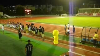 2016.09.10江戸川陸上競技場にて開催されたピーくんmacthで、ピーくんが...
