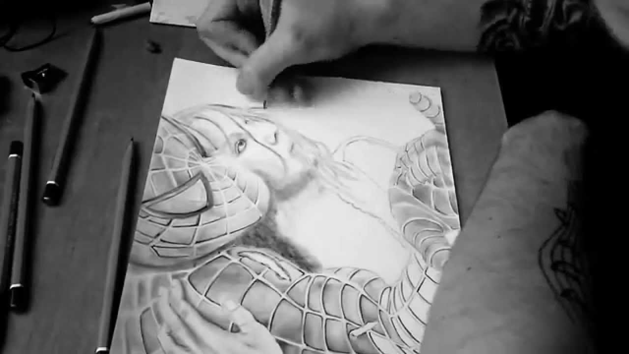 Speed art spiderman drawing by pencil rysowanie ołówkiem youtube