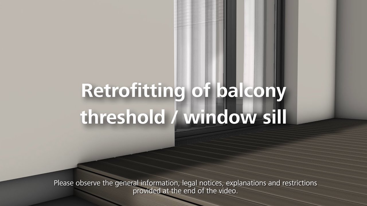 How to install a balcony threshold or window sill - Installation of thermal insulation & How to install a balcony threshold or window sill - Installation of ...