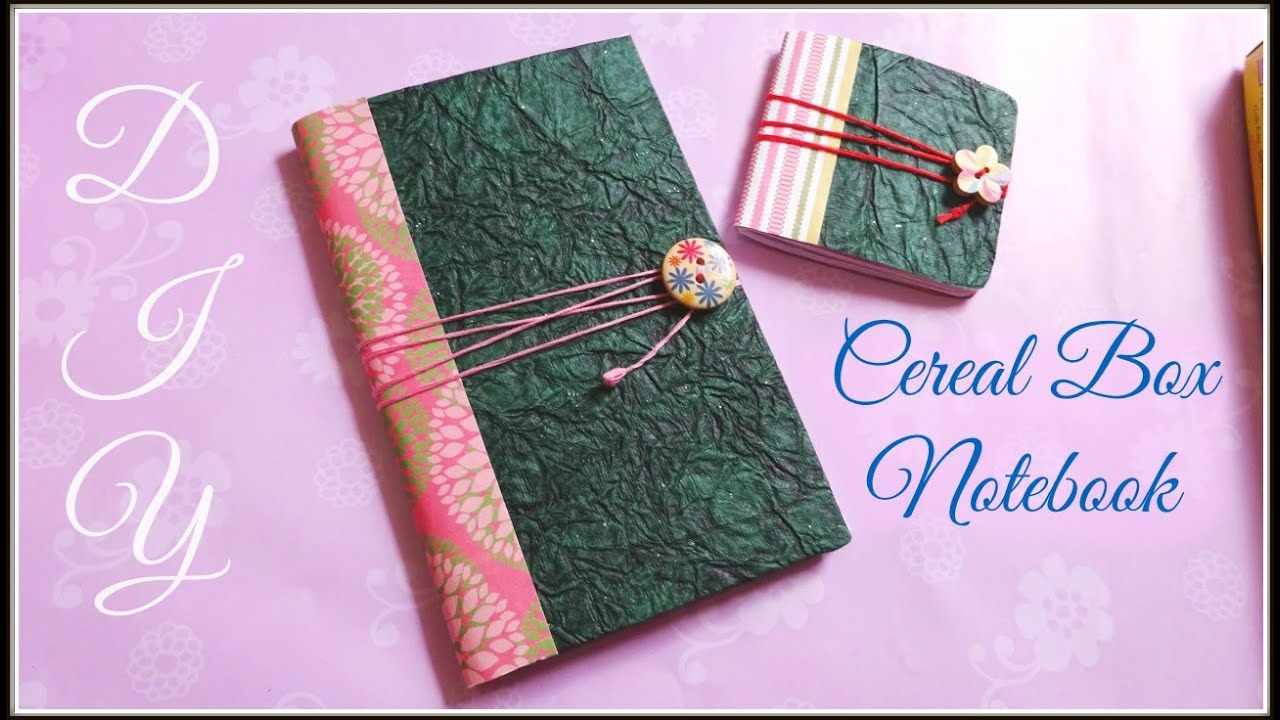 Diy cereal box notebook youtube ccuart Images