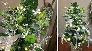 Mini Mistletoe Christmas Tree - How to Decorate A Mini Tree