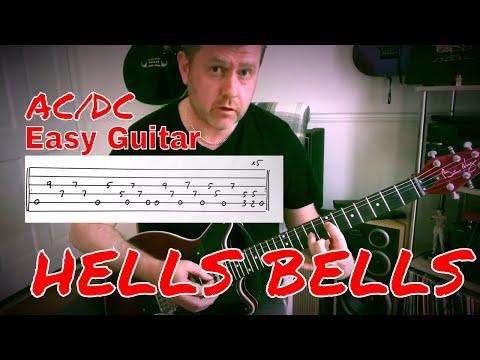 Easy Guitar - Hells Bells - AC/DC - Guitar Lesson (Guitar Tab)