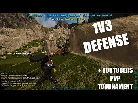 1V3 SOLO BASE DEFENSE + REVENGE & PvP Tournament Announcement   Ark Trio PvP