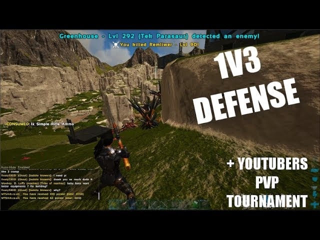 1V3 SOLO BASE DEFENSE + REVENGE & PvP Tournament Announcement | Ark Trio PvP