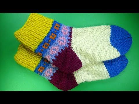 Как вязать носки двумя спицами