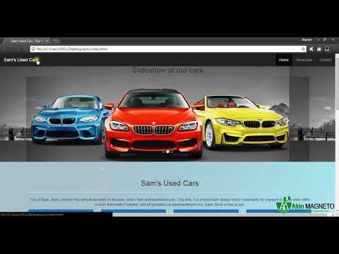 ONE PAGE AUTOMOBILE - CAR - WEBSITE DESIGN