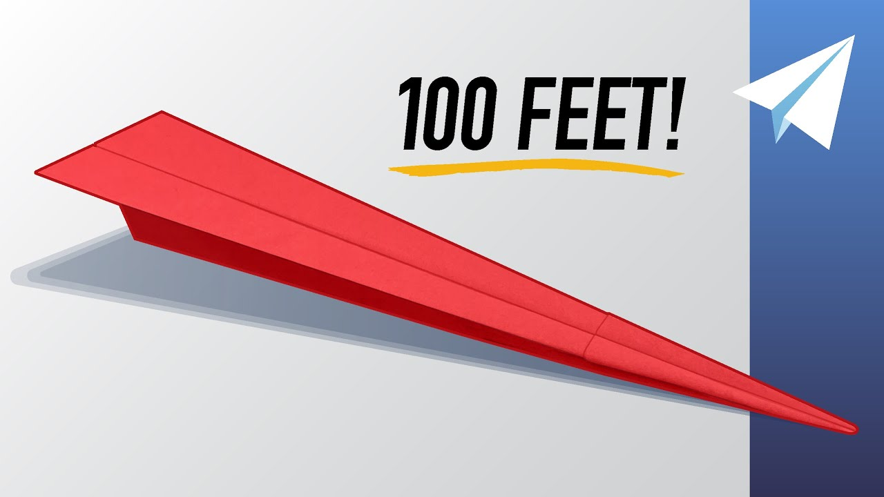 Download EASY Paper Airplane that Flies REALLY Far — Over 100 feet! — How to make Ballista — Folding Tutorial