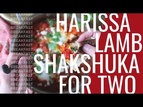 Easy Harissa Lamb Shakshuka for Two