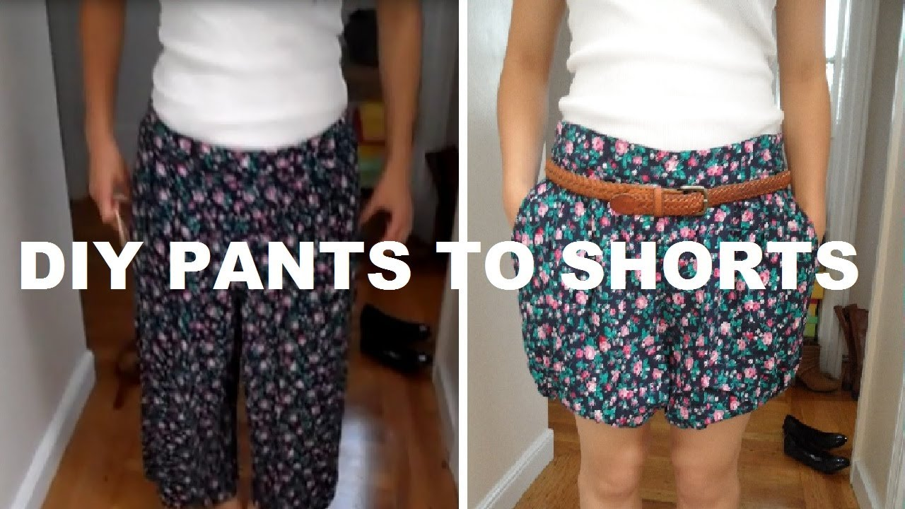 diy pants to shorts no sewing youtube. Black Bedroom Furniture Sets. Home Design Ideas