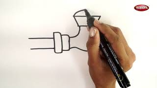 Drawing Step By Step | How to Draw a Tap | Learn Drawing For Beginners | Drawing Basics Kids
