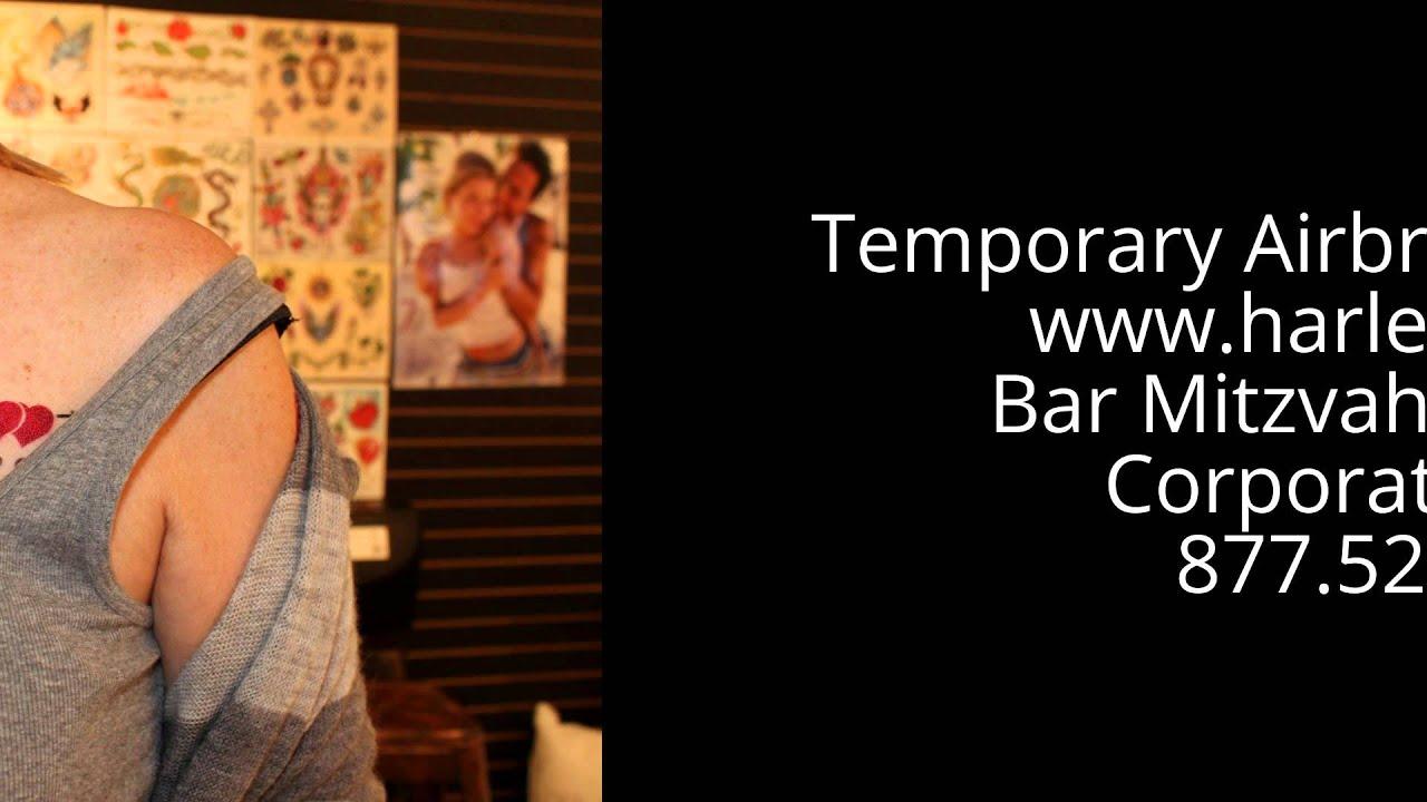 Airbrush Temporary Tattoos NYC | 877.526.5198 - YouTube