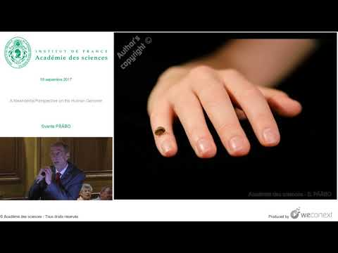 [Conférence] S. PÄÄBO - A Neandertal Perspective on the Human Genome