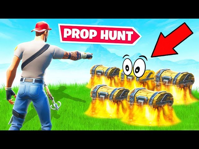 *RANDOM* LOOT Prop Hunt CHESTS *NEW* Game Mode in Fortnite Battle Royale