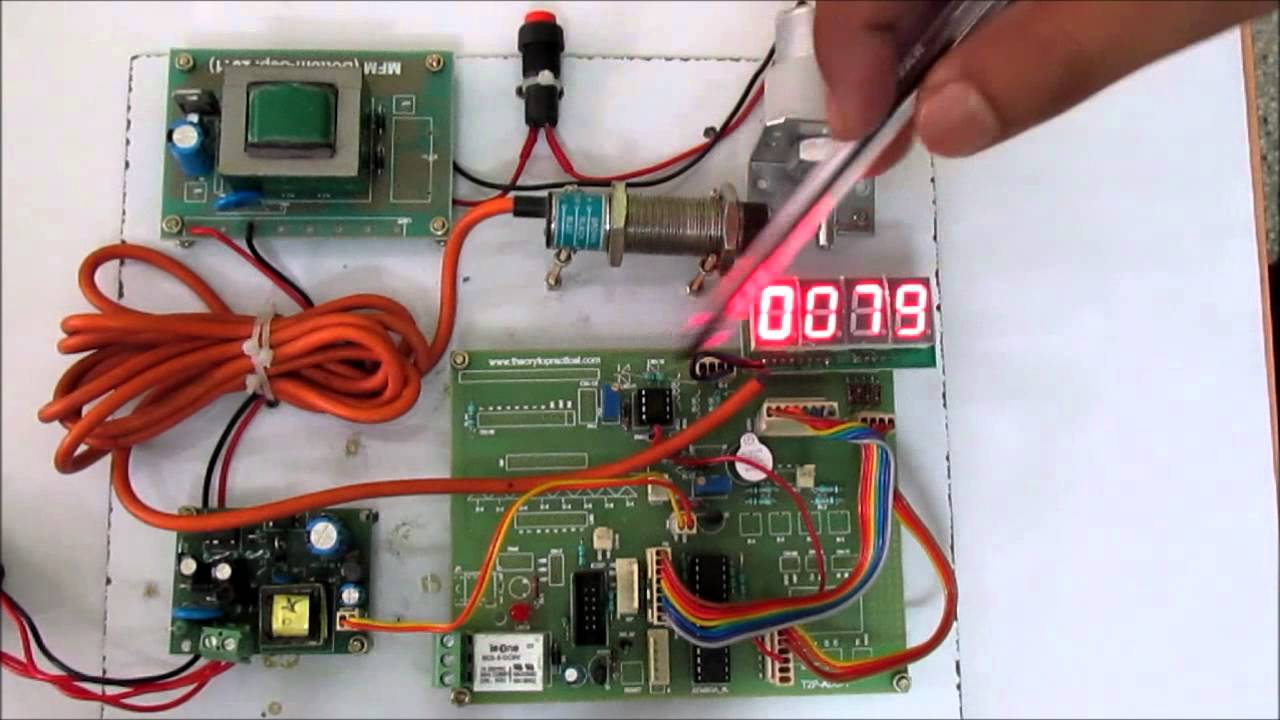 Microcontroller Based Speed Measurement Using Proximity Sensor Youtube Switch Wiring