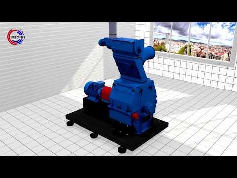 МГУПП: 3D модель молотковой дробилки (устройство, работа)