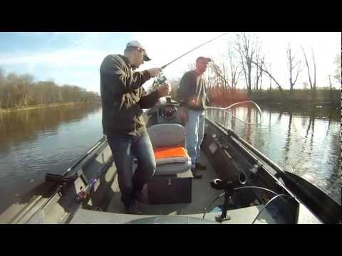 Landing A Nice Steelhead On The Grand River In Michigan | GoPro HD Hero