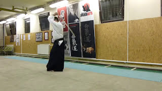 ashi no fumikae mae tsuki [TUTORIAL] advanced Aikido weapon technique
