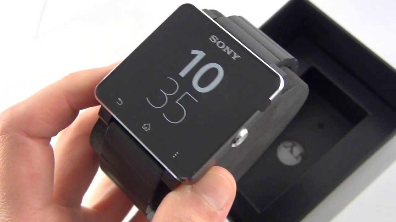 Sony SmartWatch 2 SW2 (with Metal Strap) Unboxing - YouTube