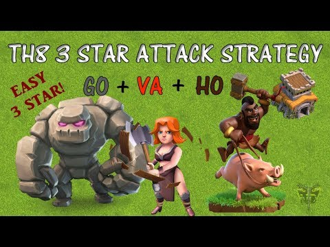 TH8 3 Star Attack Strategy - GOVAHO - Clash Of Clans 2019