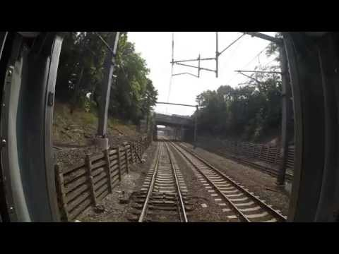 Amtrak Train 172 -Providence to Route 128 Rear View (Go Pro)