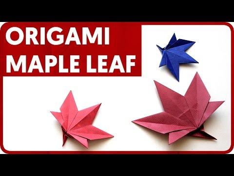 Origami Maple Leaf - YouTube | 360x480