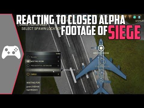Reacting To Rainbow Six Siege CLOSED ALPHA Gameplay