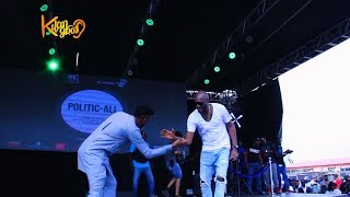 2baba's Wife Annie Idibia Show Support For 2baba As He Honour 9ice On Stage