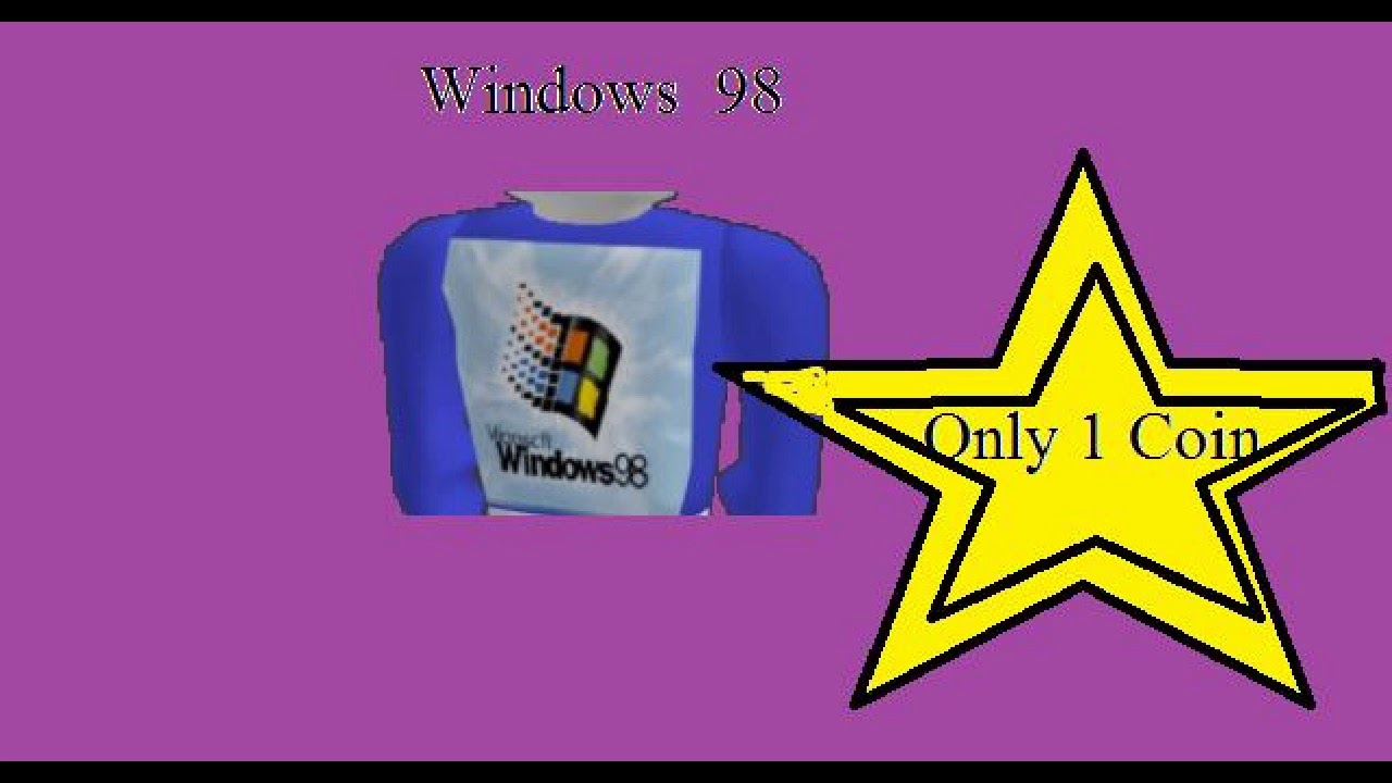 Brick Planet Windows 98 Shirt Parody