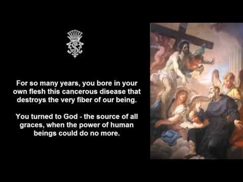 A Prayer to Saint Peregrine for Sick Relatives and Friends