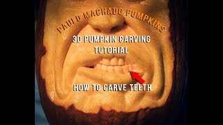 3D Pumpkin Carving - How To Carve Teeth Tutorial
