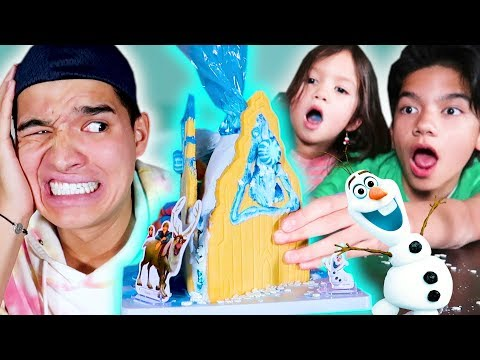 FROZEN ELSA Gingerbread Castle!