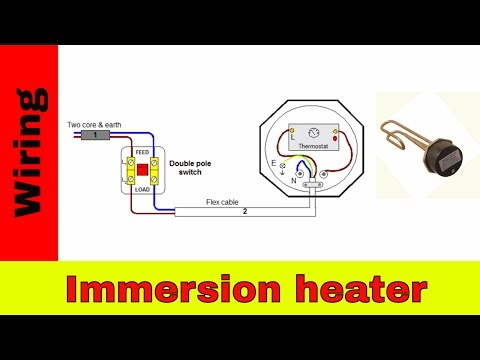 How to wire immersion heater.