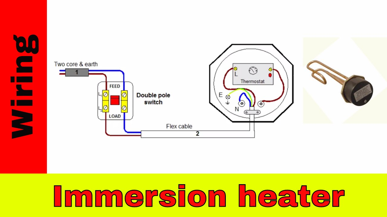Wiring Diagram For Immersion Heater: How to wire immersion heater UK - YouTube,Design