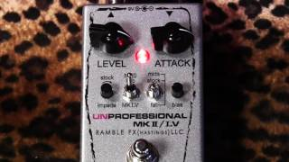 Ramble FX UNProfessional MK II / I.V Twin Bender Fuzz pedal of Love