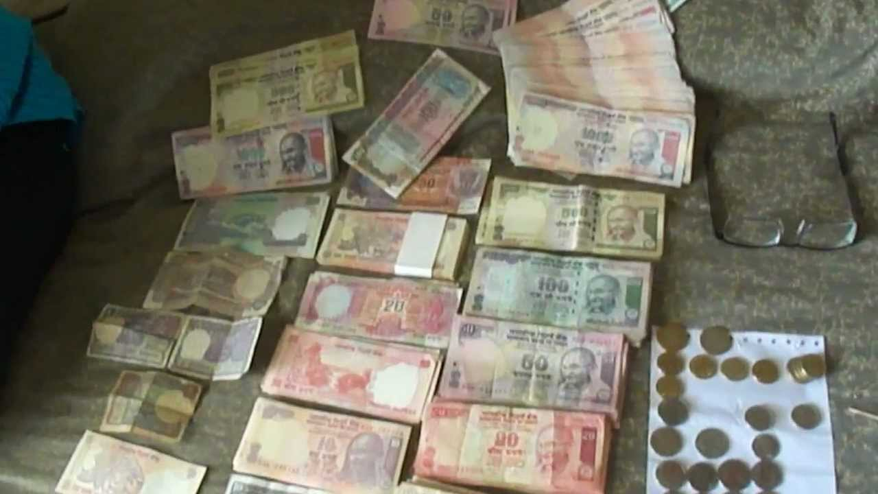 One Lakh 100 000 Indian Rupees All Denomination Notes