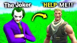 I Pretended To Be The Joker In Fortnite