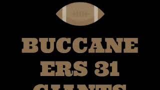 NFL Predictions Week 3 (Giants at Buccaneers)