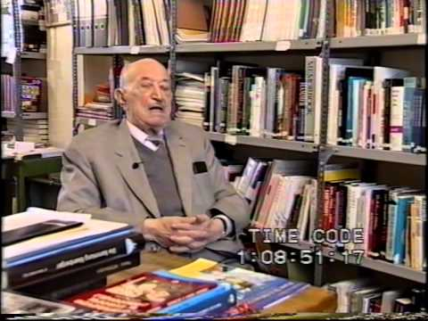 Dr. Simon Wiesenthal being interviewed during the Vienna Peace Summit 1999, part 2