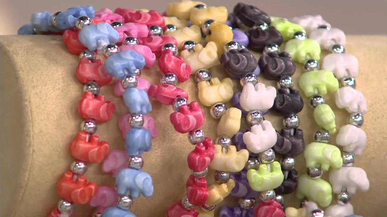 Trrtlz Set Of 10 Stretch Animal Bracelets On Qvc
