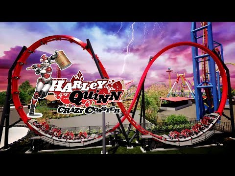Harley Quinn Crazy Coaster New 2018 Ride Six Flags Discovery Kingdom