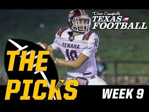 Texas High School Football Predictions 2018 – Week 9