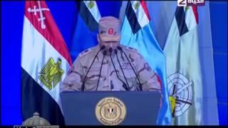 مدير المخابرات الحربية يعرض الجهود المبذولة لمكافحة الإرهاب (فيديو)