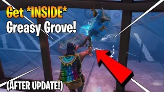 How To Get INSIDE FROZEN GREASY GROVE in Fortnite Season 7 (After Update)