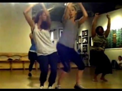 Kat Graham & Candice Accola dance, filmed by Nina Dobrev [The Vampire Diaries]