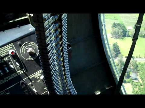 B-17 Taxi flight, takeoff and video of cockpit, bombay, nose