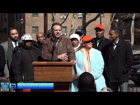 Governor Andrew Cuomo visit to NYCHA Taft Houses on The Advocates Corner with Clark Pena. Join us !