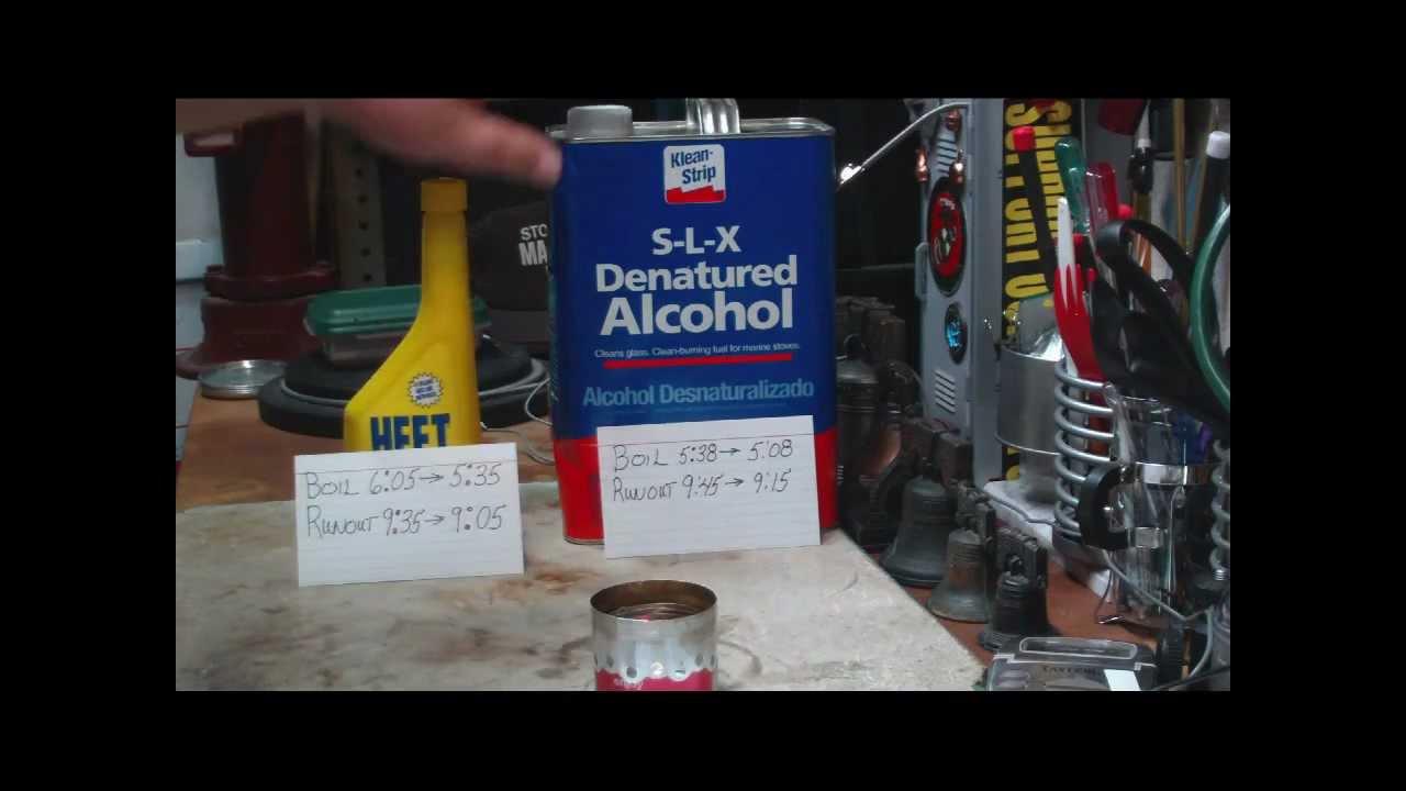 Heet vs S-L-X Denatured Alcohol - Boil Test