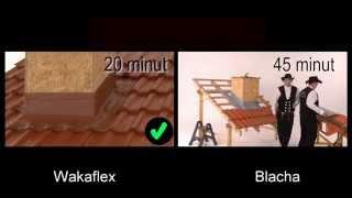 Porównanie czasu i metod obróbki komina Braas taśma Wakaflex i blacha